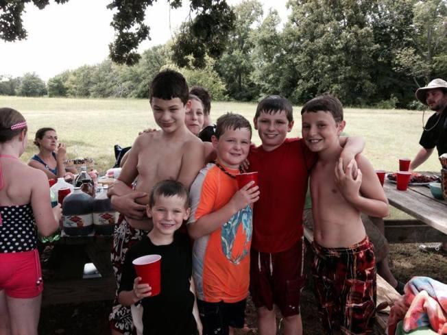 boys at party